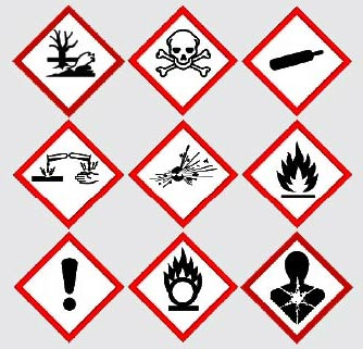 New International COSHH Symbols