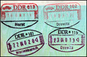 DDR border control stamps